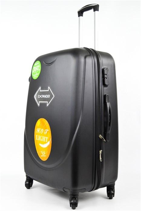 Чемодан большой ABS+PC 360-гр  черный - фото 20407