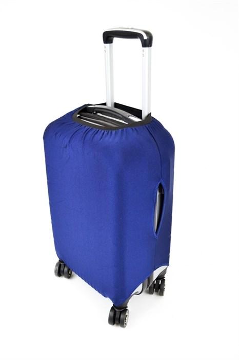 Чехол на чемодан маленький синий - фото 23731