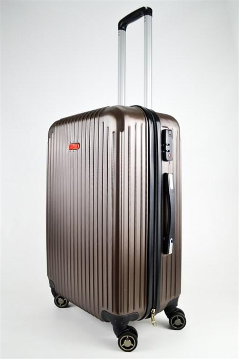 Чемодан средний ABS NL коричневый - фото 25089