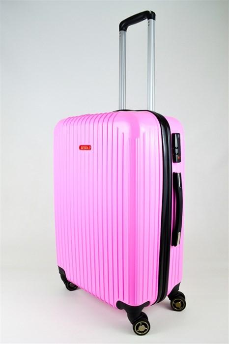 Чемодан средний ABS NL розовый - фото 25539