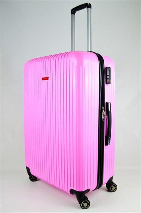 Чемодан большой ABS NL розовый - фото 25584