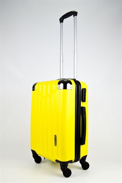 Чемодан маленький ABS Корона желтый - фото 26474