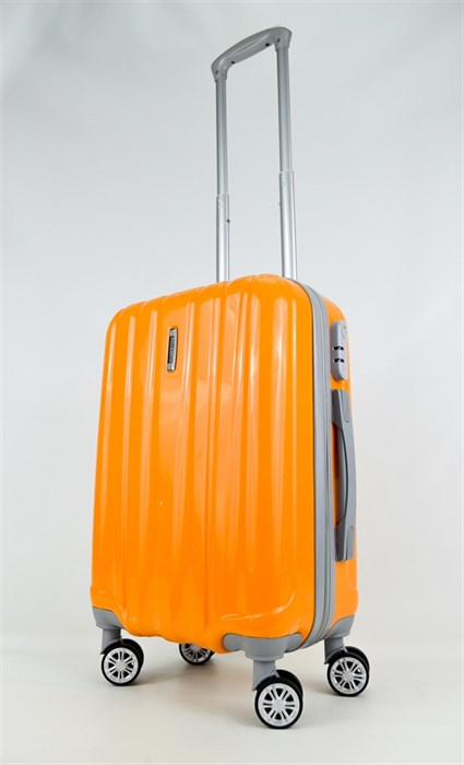Чемодан маленький ABS ROLLEARTH оранжевый глянец - фото 27049