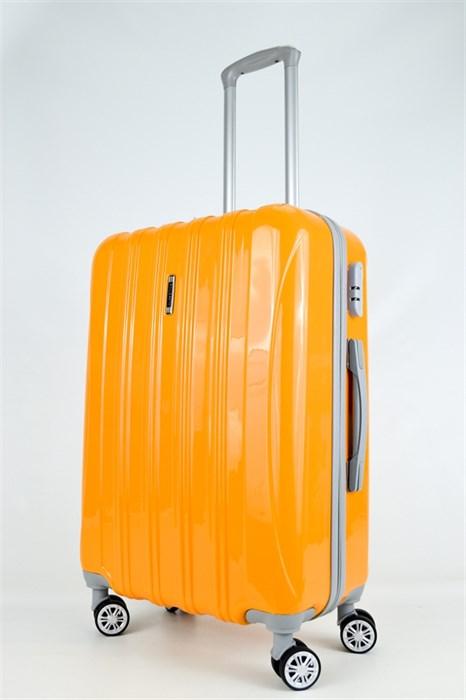 Чемодан М ABS ROLLEARTH оранжевый глянец - фото 27116