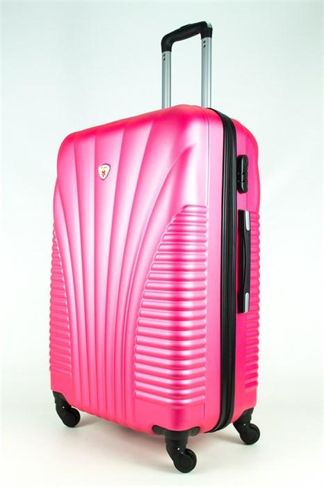 Чемодан большой PC+ABS MAGGIE ракушка розовый - фото 27425