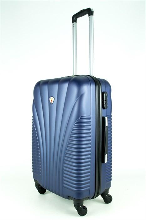 Чемодан средний PC+ABS MAGGIE ракушка темно-синий - фото 27653