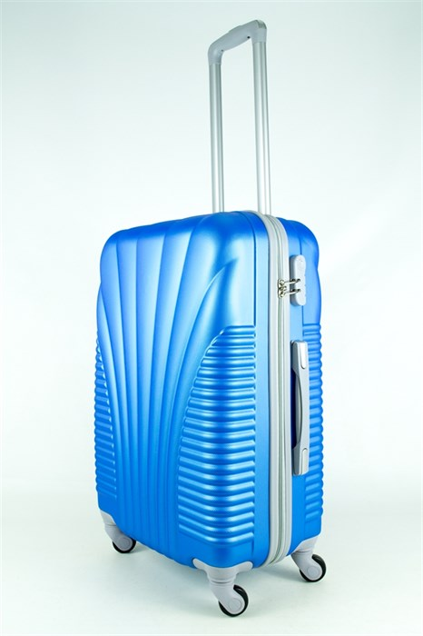 Чемодан средний PC+ABS MAGGIE ракушка голубой - фото 27859