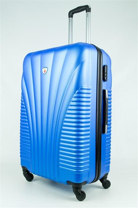 Чемодан большой PC+ABS Maggie ракушка голубой - фото 28448