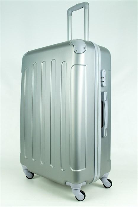 Чемодан большой PC+ABS MAGGIE N5 серебро - фото 28460