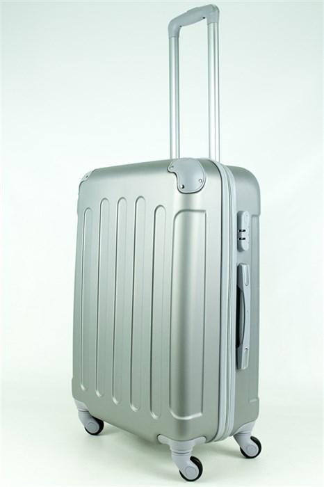Чемодан средний PC+ABS MAGGIE N5 серебро - фото 28508