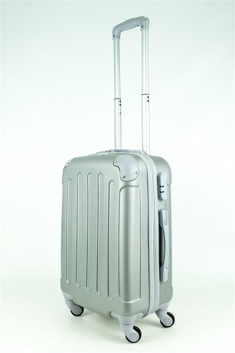 Чемодан маленький PC+ABS MAGGIE N5 серебро - фото 28544