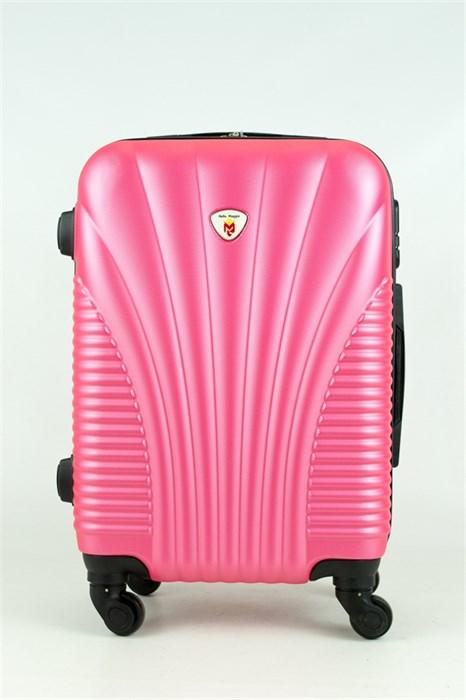 Чемодан маленький PC+ABS MAGGIE ракушка розовый - фото 28569