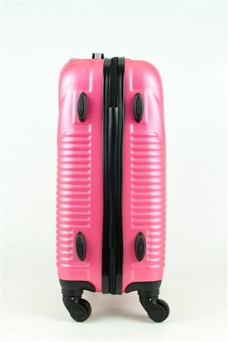 Чемодан маленький PC+ABS MAGGIE ракушка розовый - фото 28571