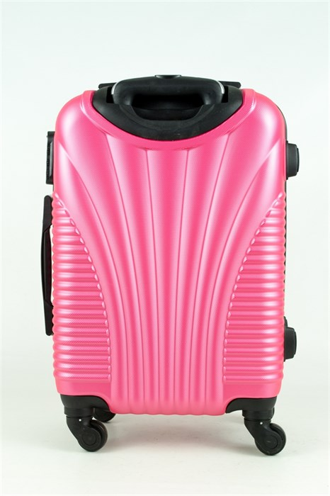 Чемодан маленький PC+ABS MAGGIE ракушка розовый - фото 28572