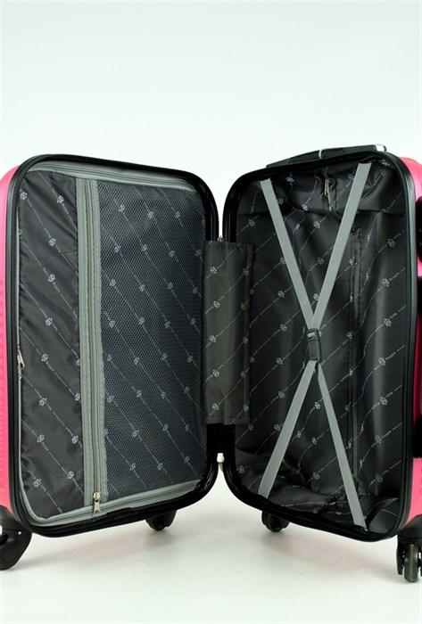 Чемодан маленький PC+ABS MAGGIE ракушка розовый - фото 28573