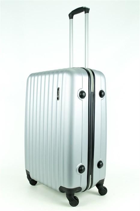 Чемодан средний ABS KK (верт полосы) серебро - фото 28664