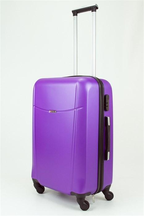 Чемодан средний ABS TT (буква Н)  фиолетовый (Ч) - фото 28981