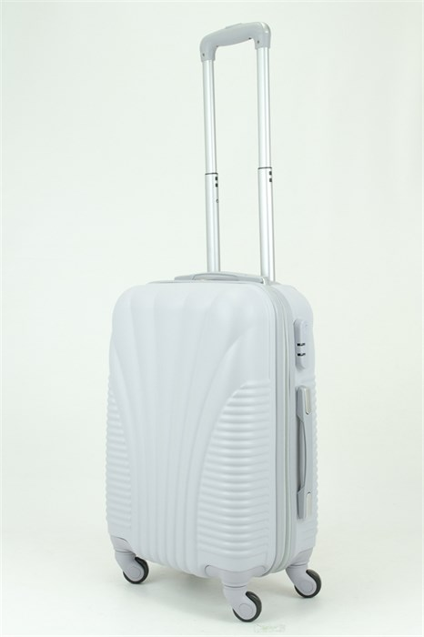 Чемодан маленький PC+ABS MAGGIE ракушка серый - фото 29048