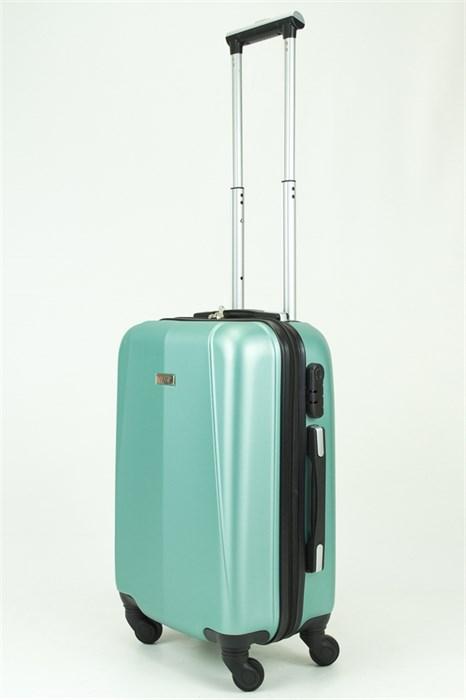 Чемодан маленький PC+ABS MAGGIE N2 серо-голубой - фото 29060
