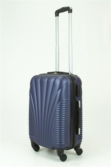 Чемодан маленький PC+ABS Maggie ракушка темно-синий - фото 29072