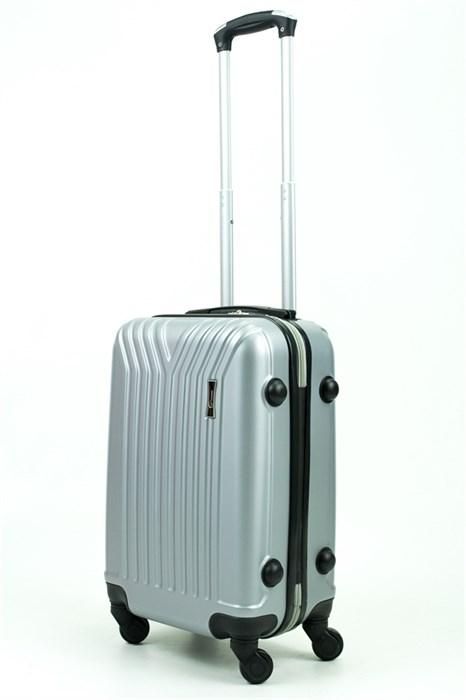 Чемодан маленький ABS TT (У-образный) серебро - фото 29387