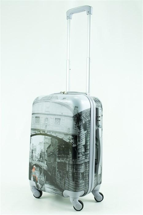 Чемодан маленький ABS Рисунок Венеция - фото 30116