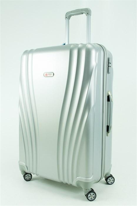 Чемодан большой ABS GC серебро - фото 30514