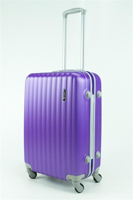 Чемодан средний ABS TT (верт  полоски) фиолетовый - фото 30572