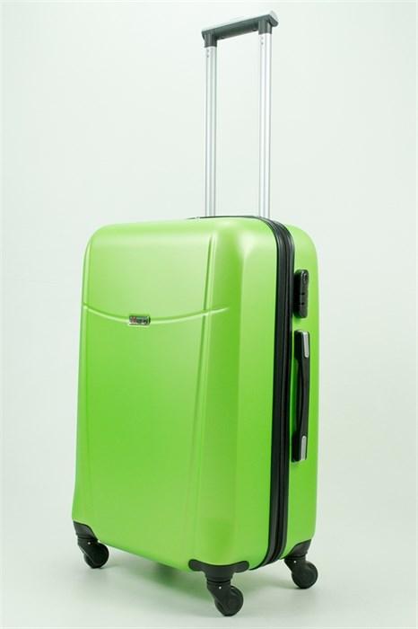 Чемодан средний PC+ABS Maggie зеленый - фото 30812