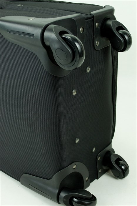 Чемодан маленький Alezar текстиль черный - фото 30970