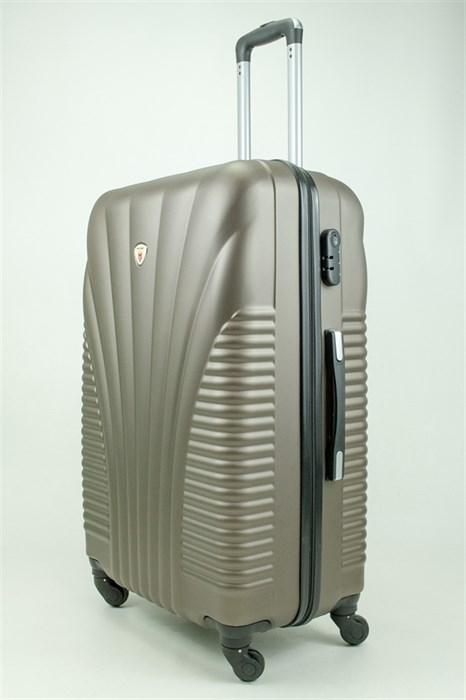 Чемодан большой PC+ABS MAGGIE ракушка коричневый - фото 31283