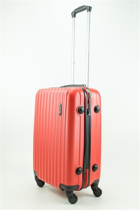 Чемодан маленький ABS TT (верт  полоски) красный - фото 31492