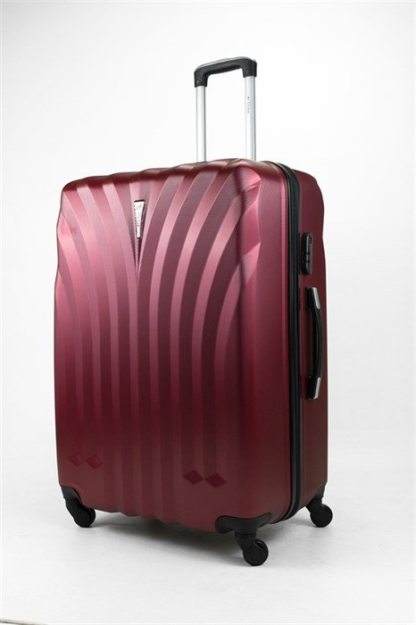 Чемодан большой ABS Lcase бордовый - фото 31876