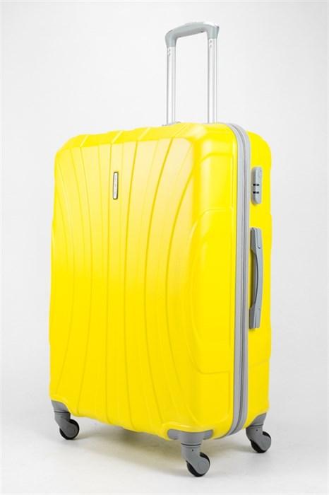 Чемодан большой ABS KK три полоски  желтый - фото 32044