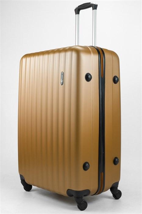 Чемодан большой ABS TT (верт  полоски) золотой - фото 32059