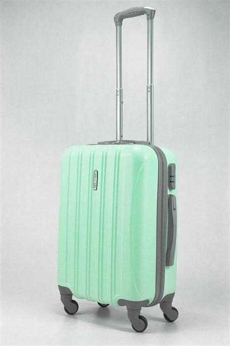 Чемодан маленький ABS KK (пять полосок) мятный - фото 32409