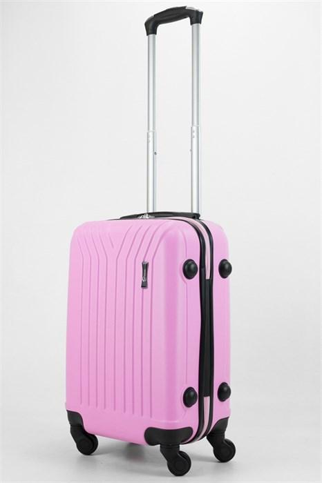 Чемодан маленький ABS TT (У-образный) розовый - фото 32501