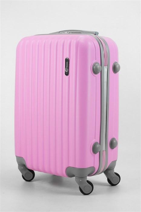 Чемодан маленький ABS TT (верт  полоски) розовый - фото 32654