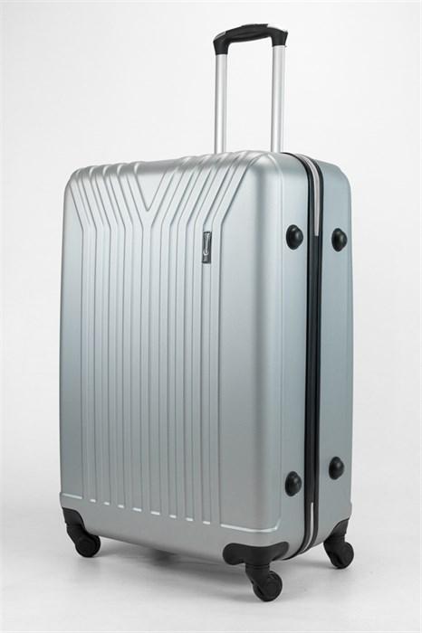 Чемодан большой ABS TT (У-образный) серебро - фото 32691