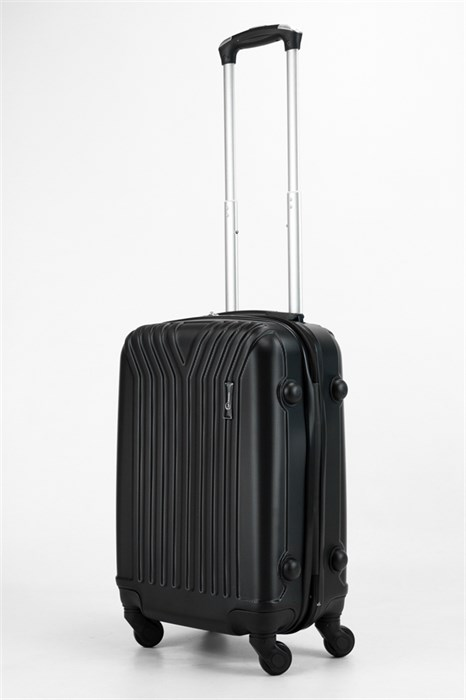 Чемодан маленький ABS TT (У-образный) черный - фото 32767