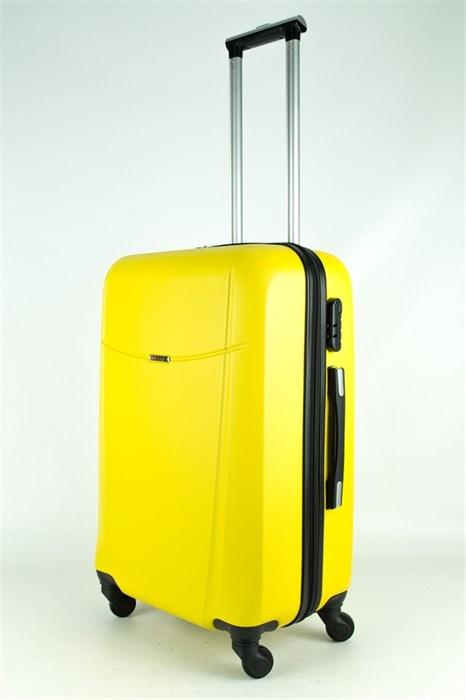 Чемодан средний ABS TT (буква Н) желтый - фото 33213