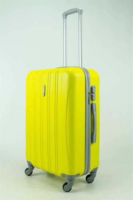 Чемодан средний ABS KK 5(4) полос  желтый (С) - фото 33411