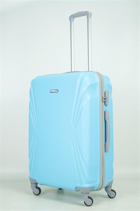 Чемодан большой ABS KK (волны) голубой - фото 33632