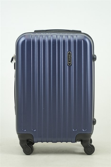 Чемодан маленький ABS Journey (8 верт  полос ) темно-синий (Ч) - фото 33671