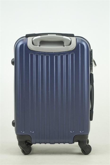Чемодан маленький ABS Journey (8 верт  полос ) темно-синий (Ч) - фото 33672