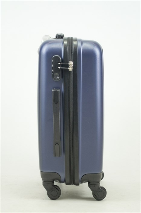 Чемодан маленький ABS Journey (8 верт  полос ) темно-синий (Ч) - фото 33673