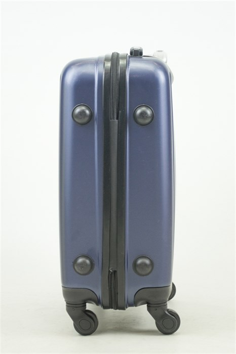 Чемодан маленький ABS Journey (8 верт  полос ) темно-синий (Ч) - фото 33674