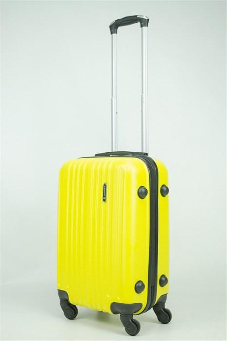 Чемодан маленький ABS Journey (8 верт  полос ) желтый (Ч) - фото 34160