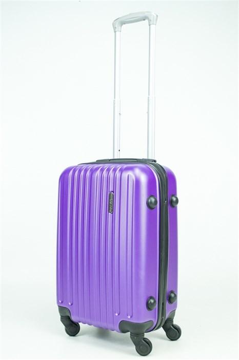 Чемодан маленький ABS Royal McQueen (8 верт полос) фиолетовый (Ч) - фото 34200