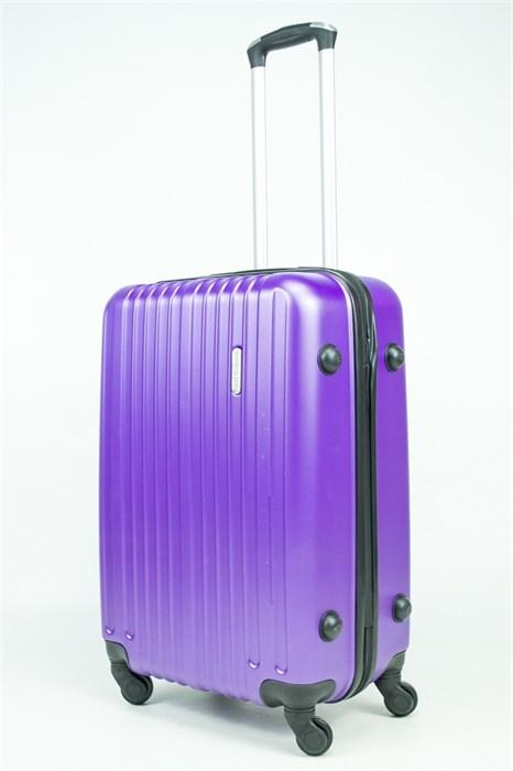 Чемодан средний ABS Royal McQueen (8 верт  полос ) фиолетовый (Ч) - фото 34207